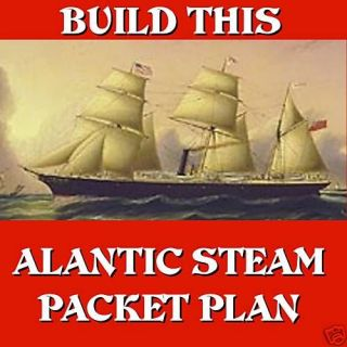 RADIO CONTROL STEAM PACKET MODEL BOAT PLANS NOTE & FULL SIZE PLANS