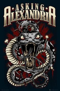 Newly listed Asking Alexandria Snake Official Large Music Poster 61cm