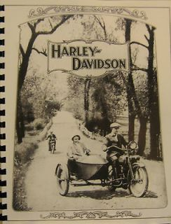 1925 Harley  Davidson Sales Brochure Covering All Models,Accesor ies