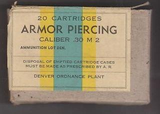 War II Vintage .30 Caliber M2 Armor Piercing Ammo Box, Denver Ordnance