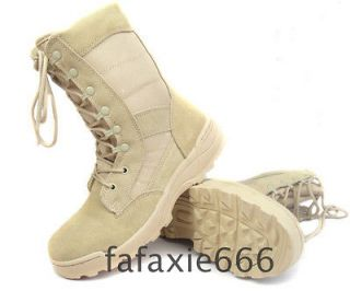 Durable Speedlace Tactical Police & Military Desert Tan Combat Boots