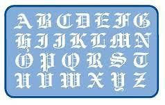 OLD ENGLISH LETTERING SIGNAGE TEMPLATE STENCIL SET   2 PIECE Set 30mm