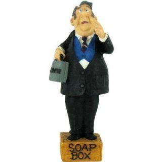 Lawyer on a Soapbox Bobble Head Figurine Russ Berrie