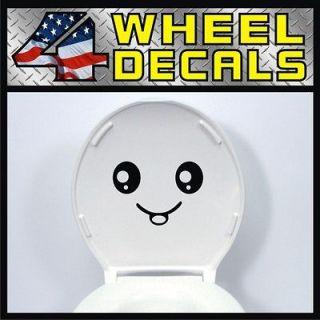 Smiley Face Toilet Seat Vinyl Decal / Sticker Label Smile Bathroom