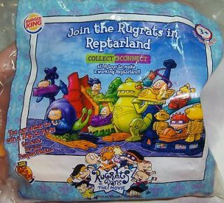 Burger King BK Kids Meal Toy Rugrats in Paris Movie Collect & Connect
