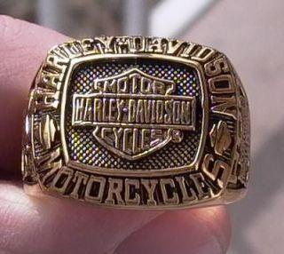 Harley Davidson Ring HOG Gold Plated 18K New