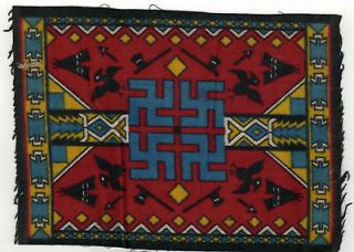 EARLY SWASTIKA Indian NATIVE AMERICAN FELT Blanket TOBACCO Cigar