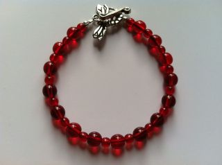 Anorexia (Ana) Support Red Bracelet  Classic Ana Curly Tailed Fly