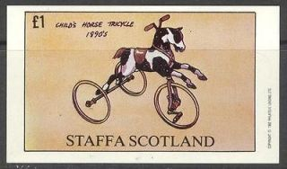 ( Br. Local) 1982 Cycle Childs Horse Tricycle S/S 1£ MNH** ns020