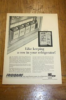 Vintage Advertisement For GM Frigidaire Refrigerators a