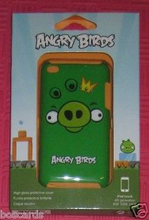 GEAR 4 ANGRY BIRDS PIG KING GREEN iPOD TOUCH 4th GEN CASE SHELL FREE