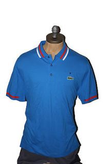 AUTH $95 Lacoste Andy Roddick Mens Blue Polo Shirt 8/2XL