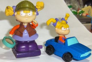 Burger King BK Kids Toy Rugrats Anjelica Angelica Lot 2 PVC Figure