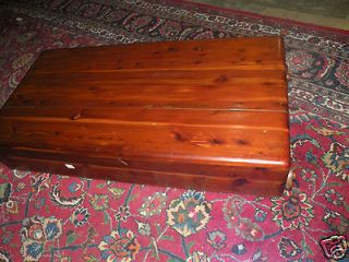 FREE SHIP ANTIQUE SOLID CEDAR CHEST TRUNK