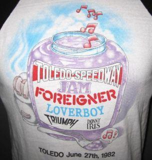 VTG 80S FOREIGNER TRIUMPH LOVERBOY CONCERT TOUR SHIRT M