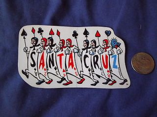 vintage RARE 80s Santa Cruz Jeff Grosso Alice skateboard sticker