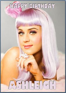 Katy Perry Personalised Birthday Card A5