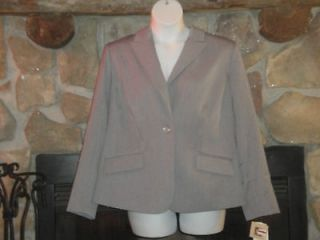 Newly listed NWT Anne Klein Womens 18W Grey Suit Jacket Single Button