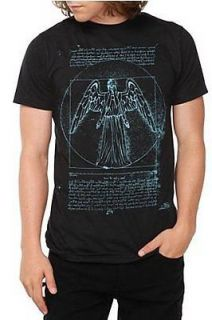 Doctor Who Weeping Angel gothic Goth Black T Shirt Unisex Mens L