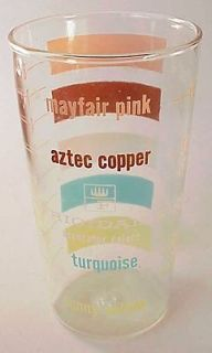 Refrigerator Color Chart Drinking Glass Tumbler Measuring Cup