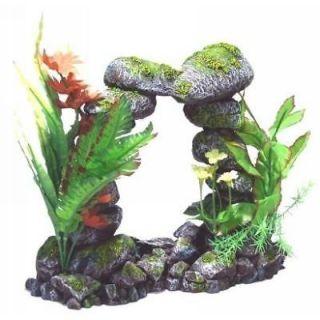 Floral Rock Arch 1100 ~ aquarium decor ornament fish tank decoration