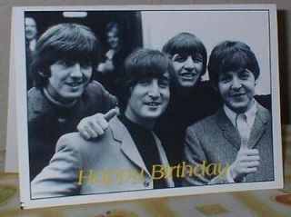 The Beatles Personalised Open Birthday Card B55