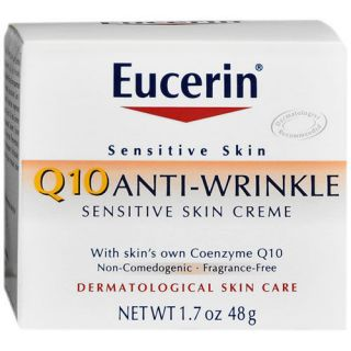 Eucerin Q10 Sensitive Facial Anti Wrinkle Cream 1.7 oz