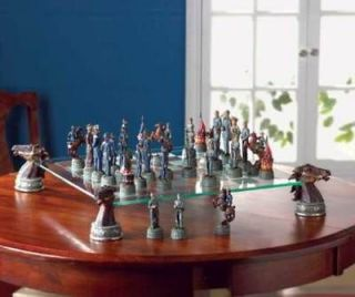 DELUXE CIVIL WAR CHESS SET TABLE GAME play pc 5 5/8hi
