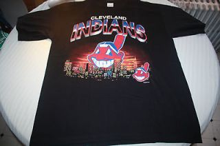 Cleveland Indians vintage t shirt 1998 DAI True Fan lace up MGK bone