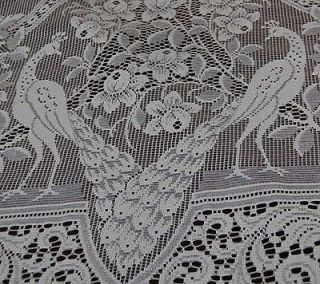 Vintage French Lace Curtain Filet Net 54 W x 102 L Glass Door Window