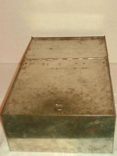 Vtg Antique Metal Bread Box Drawer Hoosier Sellers Cabinet? Repl Part