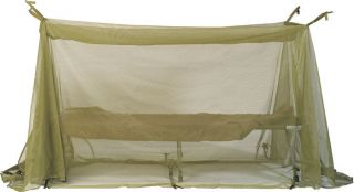 Olive Drab Military Field Size Mosquito Net Bar for Hammock Cot