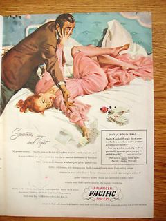 Pacific Sheets Ad Sweetness & Fight 1948 Lane Cedar Hope Chest Ad