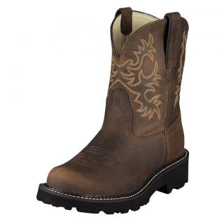 Ariat Womens Fatbaby Original Distressed Brown Cowboy Western Boots