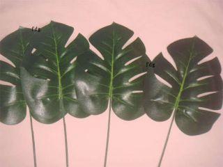 10pcs ARTIFICIAL Monstera BRANCH TREE SPRAY FAKE PLANT FAUX Foliage