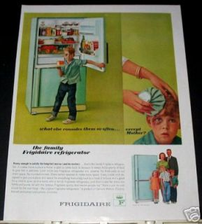 60s vintage kitchen Frigidaire refrigerator Ad
