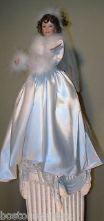 Ashton Drake Porcelain Doll ~Winter Romance Bride~ Sandra Bilotto COA