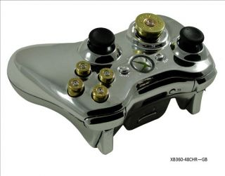 Xbox 360 Bullet 70 Mode Prog Rapid Fire Chrome Controller 4 Modern