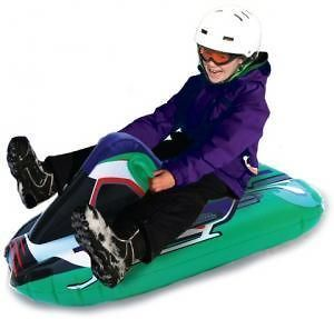 Uncle Bobs Inflatable Ride on Snowmobile Snow Tube