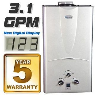 Tankless Hot Water Heater 3.1 GPM Natural Gas with Digital