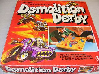 Lakeside Demolition Derby Game 1977 Board *RARE*