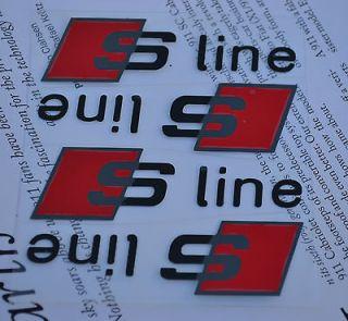 AUDI S Line Brake Caliper Decals Stickers TT RS A3 A4 A6 Q5 Quattro