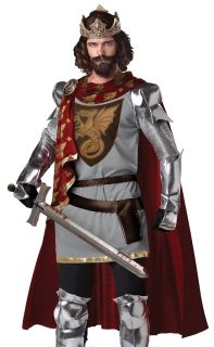 Adult Mens King Arthur Medieval Knight Halloween Costume