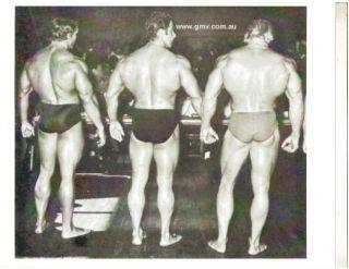 Arnold/ Reg Park / Dave Draper / NABBA Mr. Universe Bodybuilding