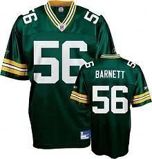 Green Bay Packers NICK BARNETT # 56 NFL Youth Replica Jersey, Green