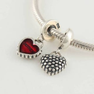 AUTHENTIC PANDORA BRACELET + STERLING SILVER MOTHER DAUGHTER HEART