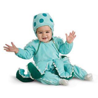 BOYS INFANT BLUE OCTOPUS HALLOWEEN COSTUME SET