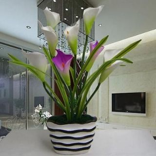 Home flower living room silk artificial flowers calla lily arrangement
