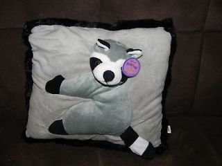 Kellytoy Plush 3D Cuddle Up Pillows Racoon 14x14 New