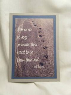 Handmade Greeting Card   Pet Sympathy & Loss   Forever In Our Hearts